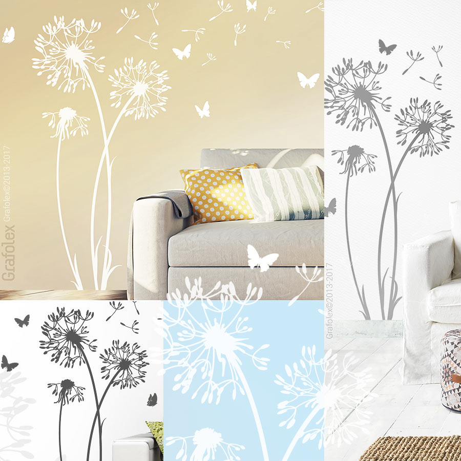 wandtattoo pusteblume wandaufkleber wandsticker l wenzahn. Black Bedroom Furniture Sets. Home Design Ideas