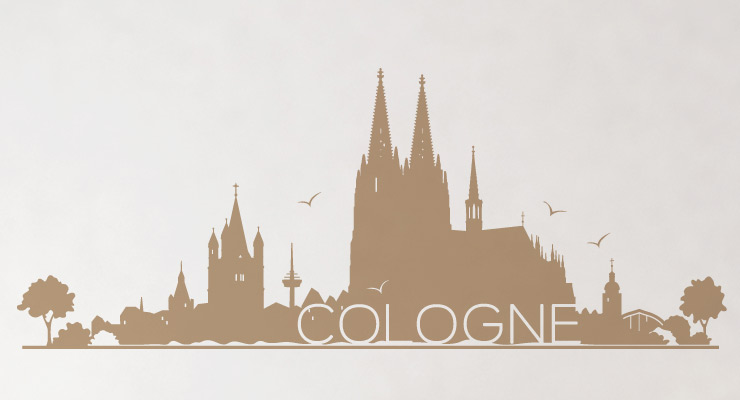 wandtattoo skyline k ln cologne wandaufkleber wandsticker sticker motiv w102 ebay. Black Bedroom Furniture Sets. Home Design Ideas