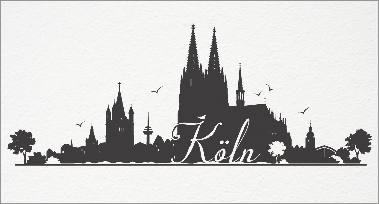 k ln wandtattoo wandaufkleber wandsticker skyline sticker aufkleber koeln w103a ebay. Black Bedroom Furniture Sets. Home Design Ideas