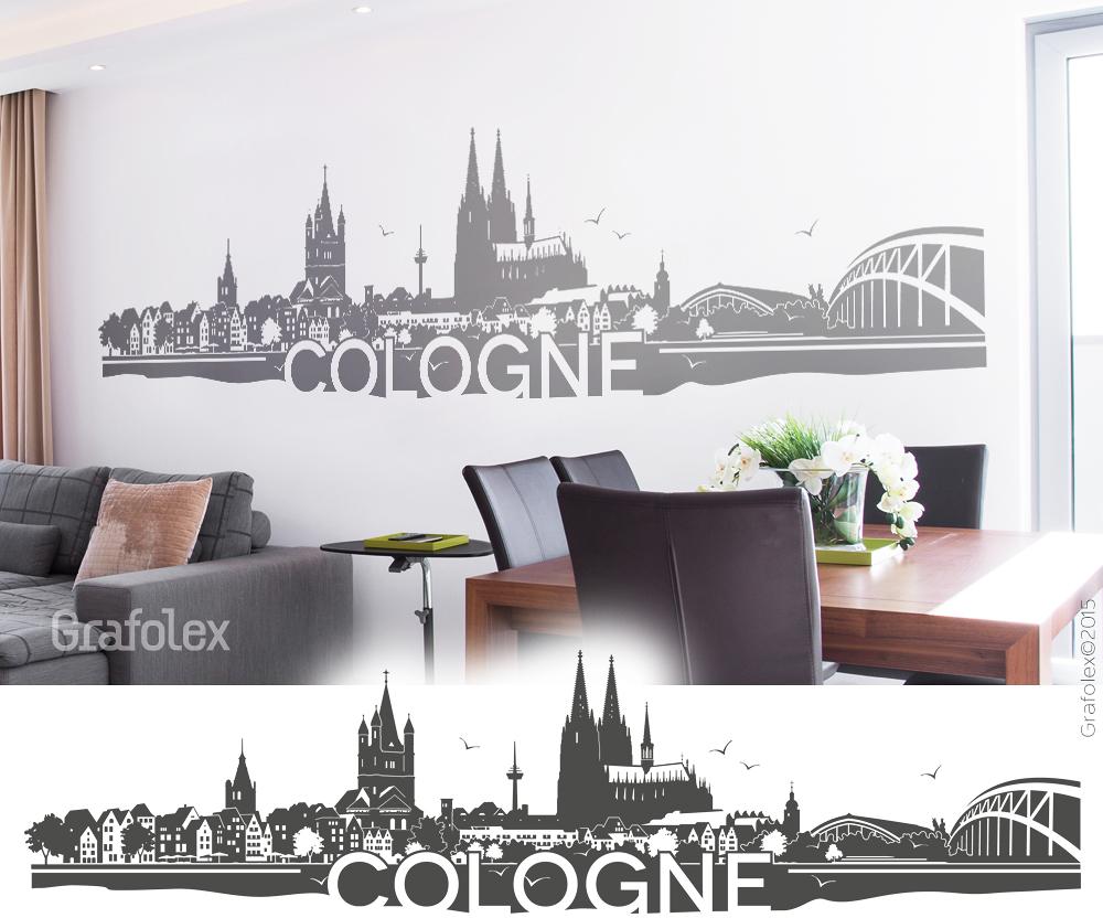 Einzigartig Wandtattoo Köln Galerie Von Skyline Cologne / Köln