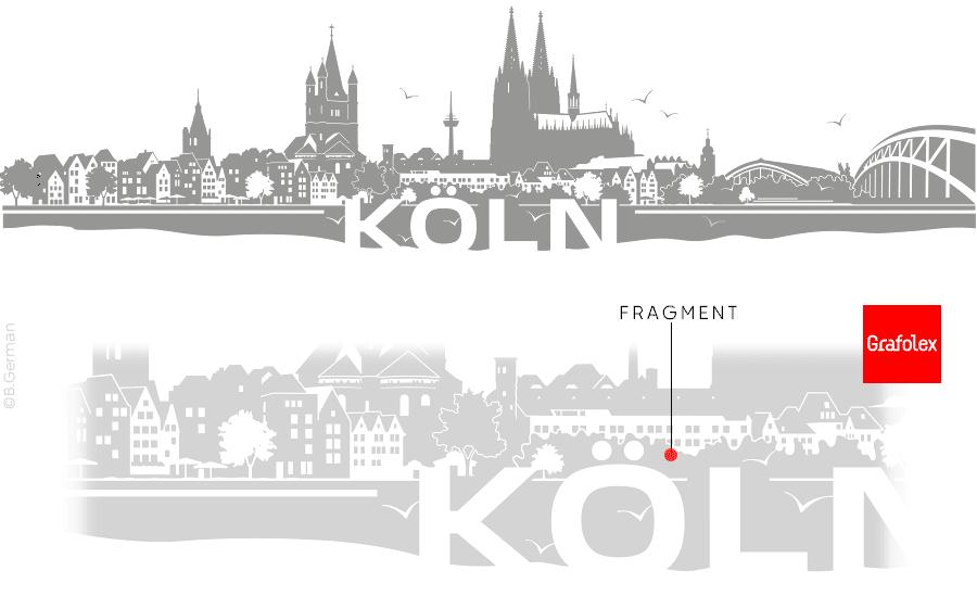 Wandtattoo Köln Fragment