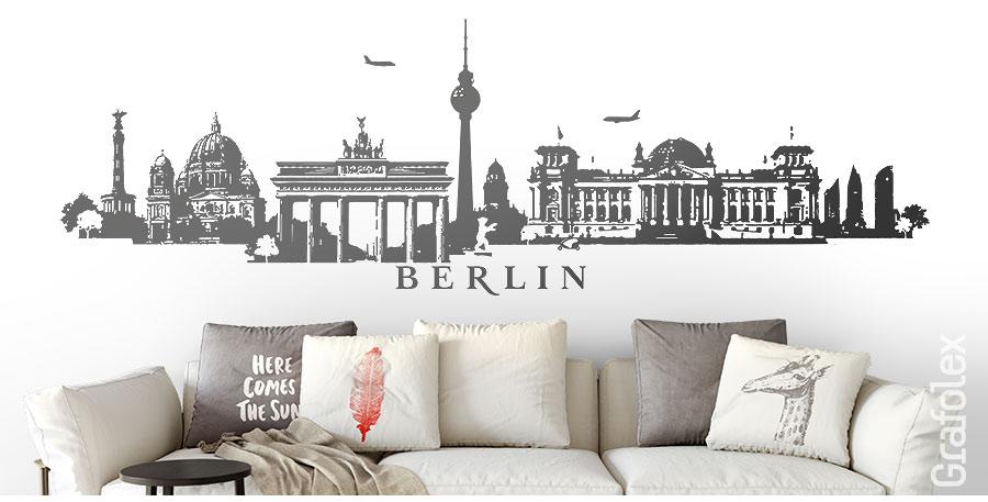 wandtattoo skyline panorama berlin von grafolex wandtattoo und autoaufkleber shop. Black Bedroom Furniture Sets. Home Design Ideas