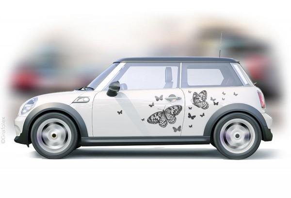 Autoaufkleber Schmetterlinge Set 2