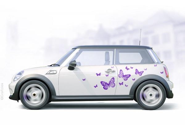 Autoaufkleber Schmetterlinge Set 3