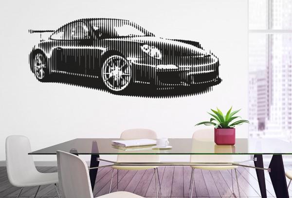 Wandtattoo Sportcar v.3