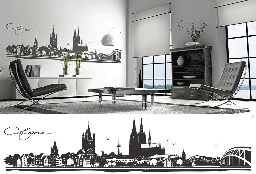 wandtattoo k ln panorama wandtattoo und autoaufkleber shop. Black Bedroom Furniture Sets. Home Design Ideas