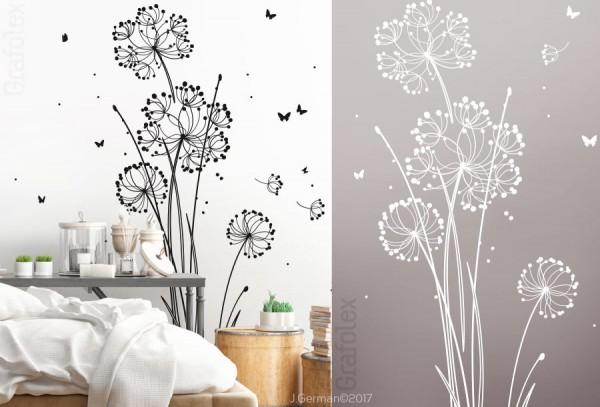 sch nes wandtattoo moderne blume pusteblume wandtattoo und autoaufkleber shop. Black Bedroom Furniture Sets. Home Design Ideas