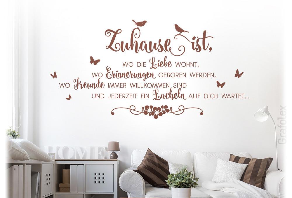 Wandtattoo Spruch Zuhause Ist