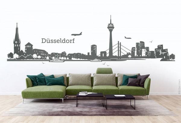 Wandtattoo Düsseldorf Skyline