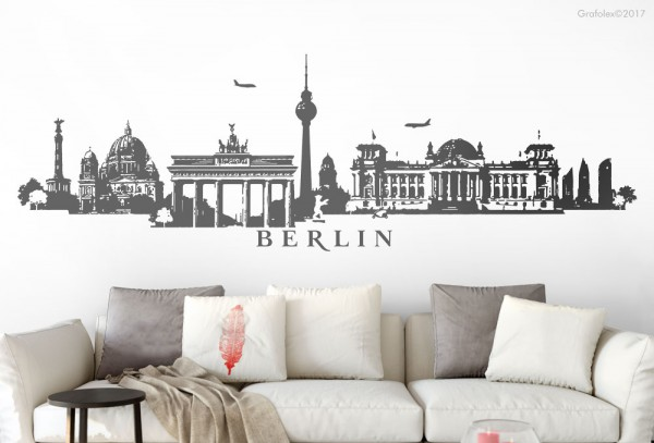 Wandtattoo Skyline Panorama Berlin