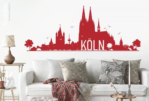 Wandtattoo Köln v.2