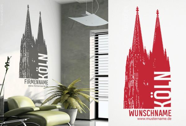 Wandtattoo Köln Dom w109