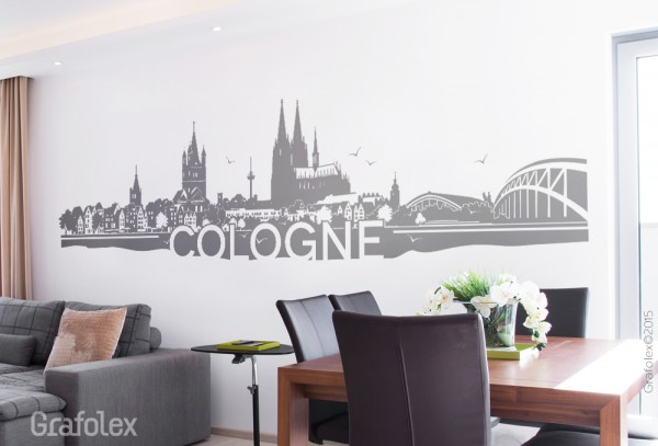 wandtattoo skyline cologne wandtattoo und autoaufkleber shop. Black Bedroom Furniture Sets. Home Design Ideas