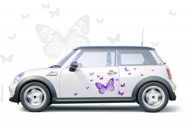 Autoaufkleber Schmetterlinge Set 1